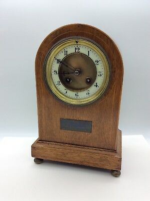Antique Clock Wooden Case French Japy Frères, WWI Somme France Centenary 1914-18