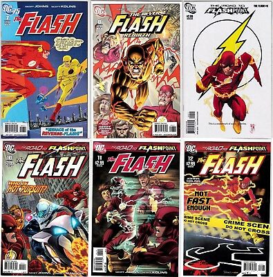 DC The Flash (Vol. 3, 2010-2011) #'s 7-12 (NM) --- #7 & #12 have Variant Covers