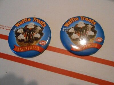 Dairy Queen Waffle Treats Pin/buttons They No Longer Serve Lot Of 2