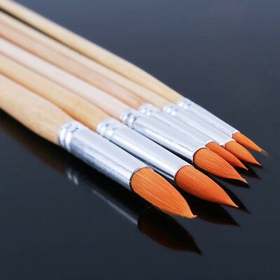 Acrylic Yellow Nylon Hair Paint Brush Set Watercolor Oil Painting Brushes 8C