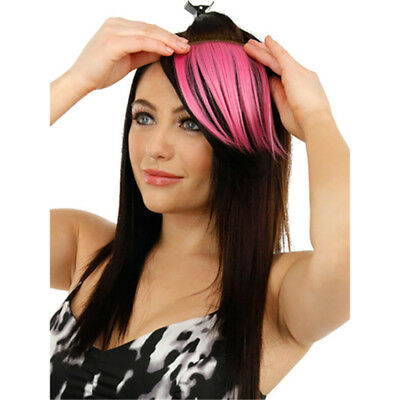 Colorful Hair Piece Clip In Bangs Fringe With Hair Circlet Long Strands 8C