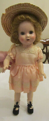 Vintage 1940's or 1950's Horsman Hard Plastic Doll Open Mouth Bright Star?