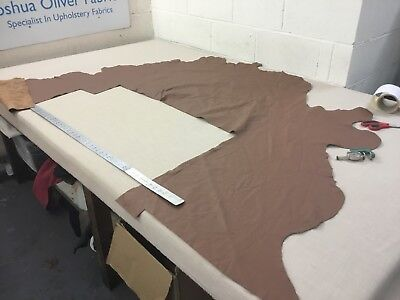 Tan Part Leather Hide, Free P+P