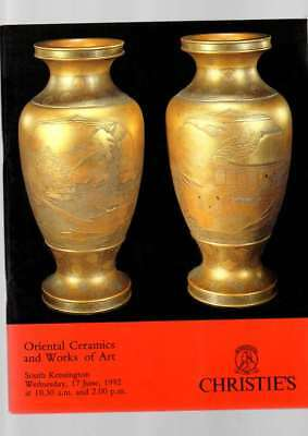 Christie's Auction Catalogue ORIENTAL CERAMICS  AND WORKS OF ART 1992 VG COND