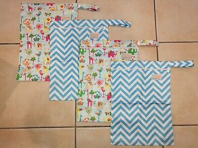 4x Wetbags / Wet Bag PUL Cloth nappies