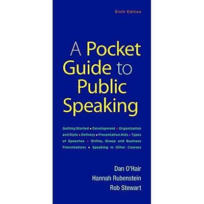 A Pocket Guide to Public Speaking - Paperback NEW O'Hair, Dan 01/10/2018