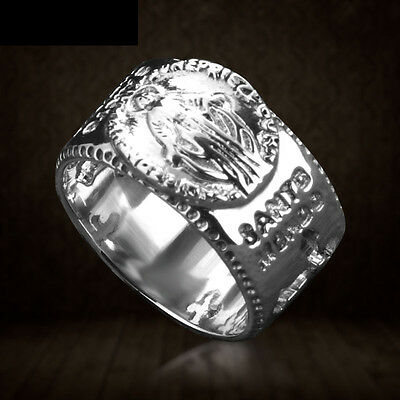 Unique Mens Womens Jewelry Virgin Mary 925 Sterling Silver Band Ring Size 9-11