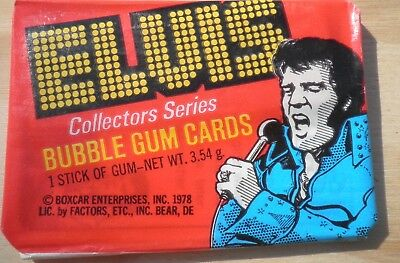 1 x Unopened Wax Pack 1978 Elvis Presley Collectors Cards Donruss Rare (#51)