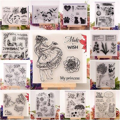 20 Styles Silicone Clear Rubber Stamps Seal Scrapbooking Album Card Diary Craft