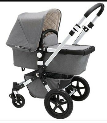 Beautiful bugaboo cameleon 3 grey melange limited edition cam3 silver chassis