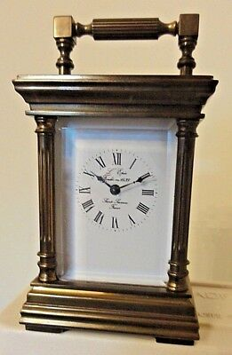 Vintage L,epee Miniature  Carriage Clock with Original Key