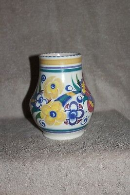 Poole pottery vase 14cm high 36cm around - possibly Fuschia pattern