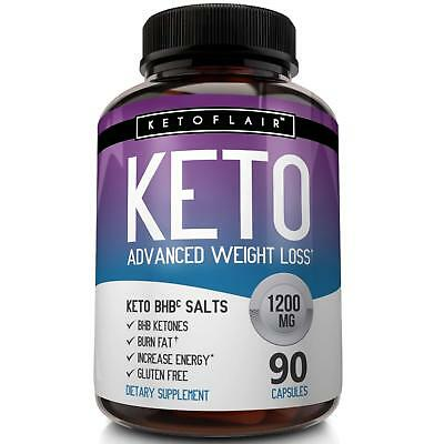 Keto Diet Pills 1200mg (90 Capsules) Advanced Weight Loss Ketosis Supplement -