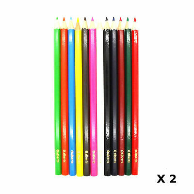 Alberts Assorted Colours Colouring In Pencils Crayons Arts & Crafts, 24 Pack