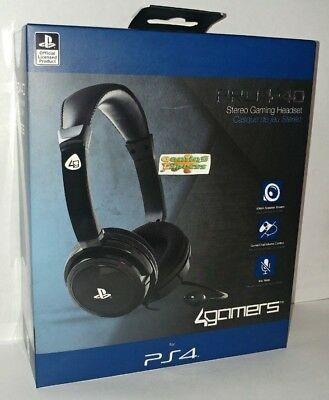 Official Licensed PRO4-40 BLACK Stereo Gaming Headset Playstation 4 PS4 NEW