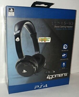 Official SONY PRO4-40 BLACK CHAT Stereo Gaming Headset With Mic PS4 NEW SEALED
