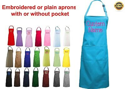 Personalised apron cooking baking custom embroidery apron text logo bib apron
