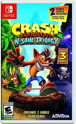 Crash Bandicoot N. Sane Trilogy [Nintendo Switch Cortex Strikes Back Warped] NEW