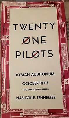 Twenty One Pilots TOP Nashville Ryman Hatch Show Print 2015 Blurryface Trench