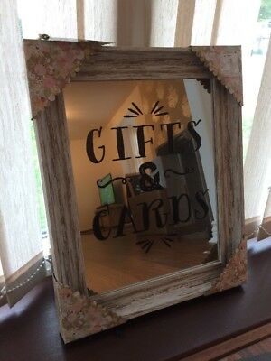 TKMAXX Mirrored Wedding Gifts And Cards Sign BNWT