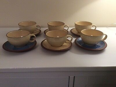 Denby Juice X 6 Coffee Cups And Saucers