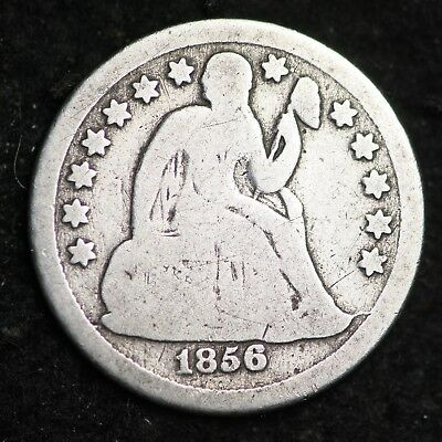 1856-O Seated Liberty Dime CHOICE G+ FREE SHIPPING E285 ACH