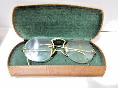 Vintage Glass Spectacles Eyeglasses American Optical 12K Gold Filled Round Ao