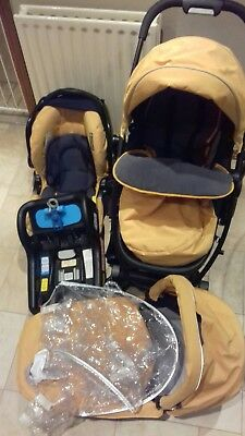 Travel System 3 in 1 Graco Evo Iso Fix Pushchair Pram Car Seat Mothercare