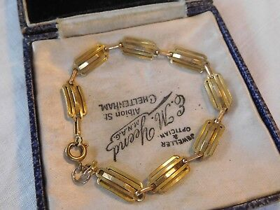 Dainty Vintage 1950s Decorative Rolled Gold Bracelet