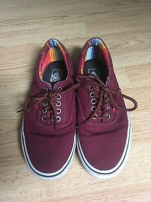 46e7ccb77c7 Vans Era 59 Port Royale Multi Stripe Men s 9 Women s 10.5 Skate Shoes  Maroon Low