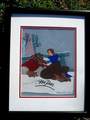 Vintage Disney's Beauty And The Beast Animated Cel Signed Ron Dias - Chap.12 #39