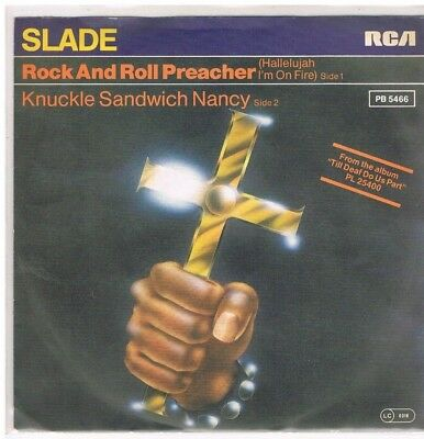 """7"""" - SLADE - ROCK AND ROLL PREACHER - german PS"""