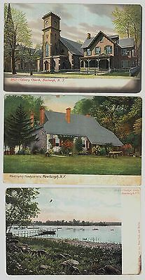 Lot of 9 early c1905-10 Newburgh New York NY postcard views - interesting lot!