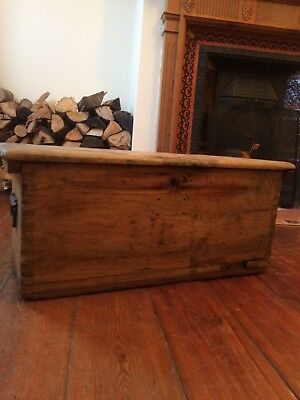 Vintage Wooden Box Antique Old Rustic Chest Trunk Tool Storage Chest Military