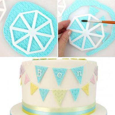 3x Easy Bunting Cutters Cake Decorating Icing Fondant Sugarcraft Mould 8C