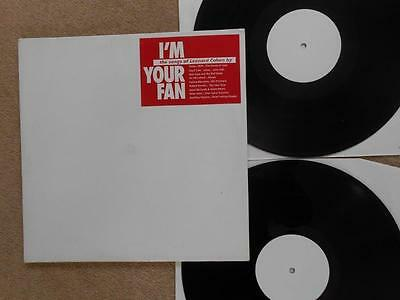 I'M YOUR FAN Leonard Cohen Tribute Album - RARE White Label Promo Double LP EX!!