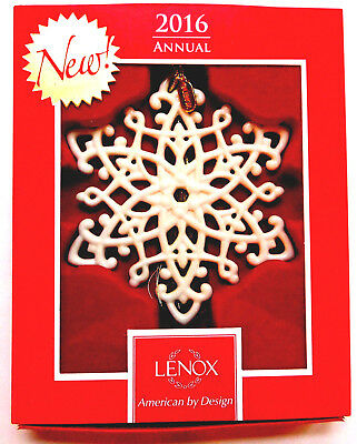 LENOX  2016 Snow Fantasies Snowflake Ornament    NEW IN ORIGINAL BOX 1st Quality