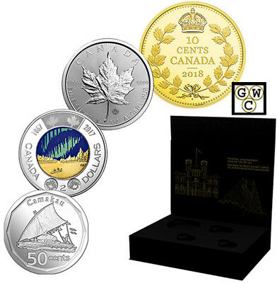 2018 'Royal Canadian Mint State-of-the-Art' 4-Coin Set (18647)