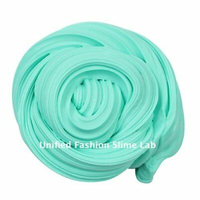 Mint Green Slime, Fluffy Scented Floam Slime, Green Putty + Free Glitter!