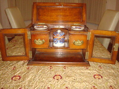 Antique Edwardian Mahogany Smokers Cabinet Vintage MINT Condition