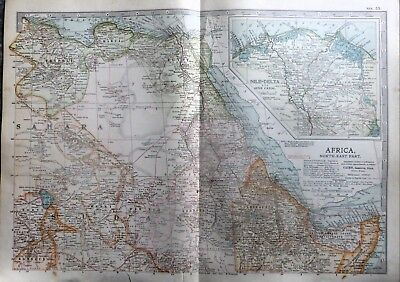 1903 Map Of North East Africa.