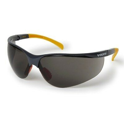 Volvo Identity Safety Glasses Tinted w/ Soft Fabric Bag UV400 Grey and Yellow