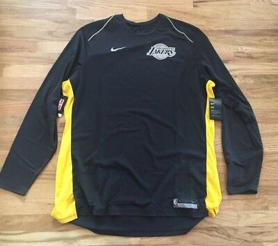 9faf542b2 Nike Los Angeles Lakers Long Sleeve Shooting Shirt 907417 014 SZ 3XLT Tall  Black