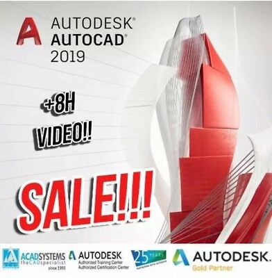 Autodesk AutoCAD 2019 3 Year License INSTANT DELIVERY