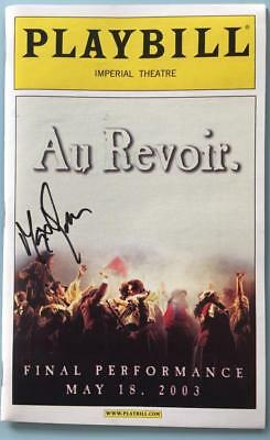 Finale Performance May2003 Playbill  LES MISERABLES Max von Essen (Only) Signed