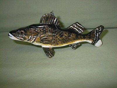 Fish carving Hand Carved  Walleye   Ken Szafasz