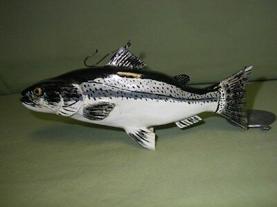 Coho  Salmon  Decoy  Carved  by Ken Szafasz