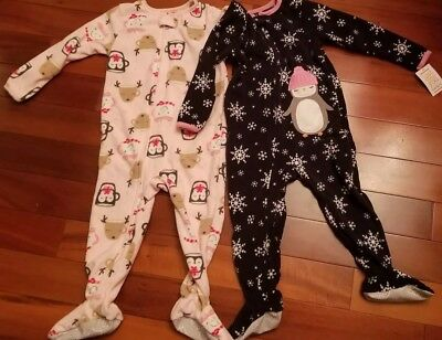 0f9ee2d30 NWT CARTERS JUST One You Holiday Girls Sleeper Footed Fleece Pajamas ...