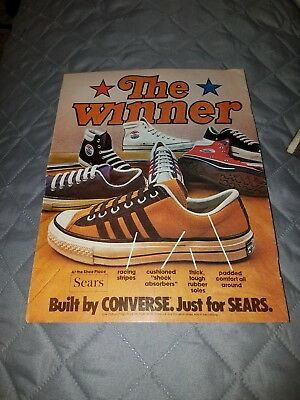 1970's Converse High Top Tennis Shoes Fashion Print Ads Clippings VINTAGE