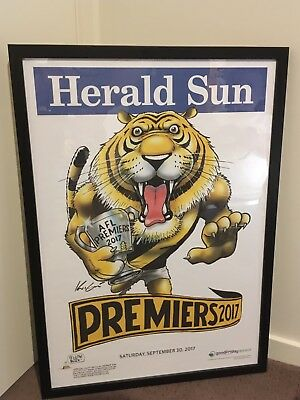 2017 AFL Mark Knight Richmond Premiership Weg Framed